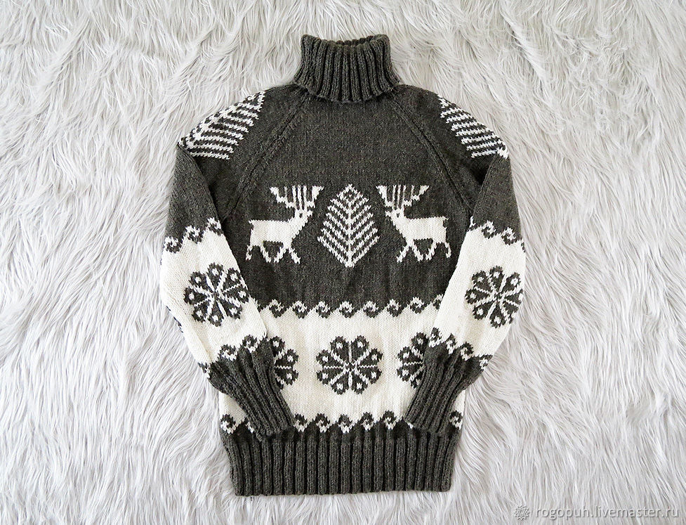 Knitted sweater with deer (No. №401), Mens sweaters, Nalchik,  Фото №1