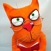 Куклы и игрушки handmade. Livemaster - original item Cat uchonyi. Soft toy ginger cat in the boot of Vasey Lozhkina. Handmade.