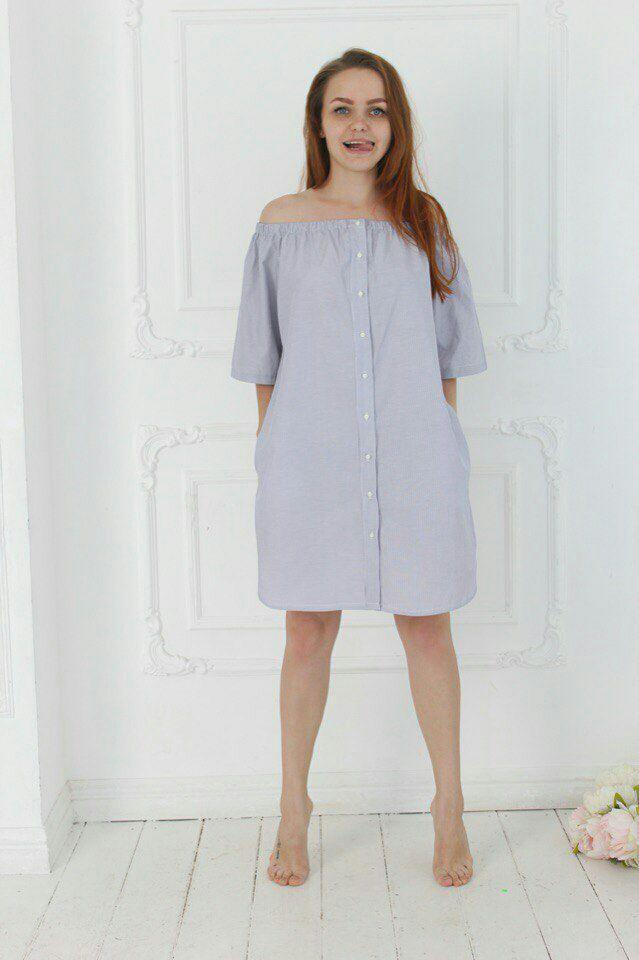 Купить Платья Рубашка В Полоску