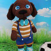 Куклы и игрушки handmade. Livemaster - original item Knitted dog Joy. Handmade.