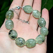 Украшения handmade. Livemaster - original item Bracelet made of natural prehnite. Handmade.