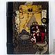 """Подарки для мужчин, ручной работы. Ярмарка Мастеров - ручная работа. Купить Кожаный ежедневник """"Картины Леонардо-2"""" со сменным блоком. Handmade."""