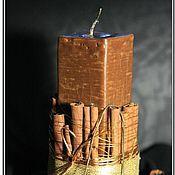 """Сувениры и подарки ручной работы. Ярмарка Мастеров - ручная работа Свеча """"Шоколад с корицей"""". Handmade."""