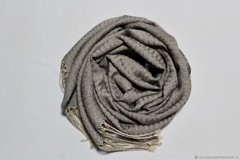 Hand-woven patterned scarf. Silk, Scarves, Aprelevka,  Фото №1