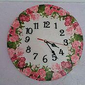 """Часы ручной работы. Ярмарка Мастеров - ручная работа Часы настенные """"Розовое поле"""". Handmade."""