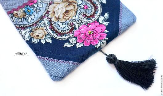 Женские сумки ручной работы. Ярмарка Мастеров - ручная работа. Купить Сумка-карман. Handmade. Тёмно-синий, сумка из ткани
