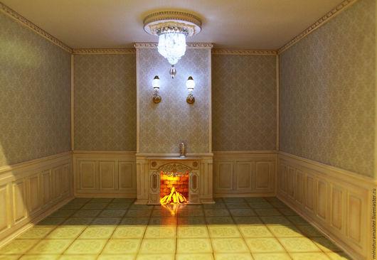 Кукольный дом ручной работы. Ярмарка Мастеров - ручная работа. Купить Румбокс  1/12. Handmade. Разноцветный, кукольный дом, картон