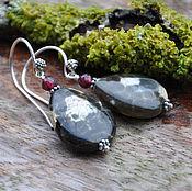 Украшения handmade. Livemaster - original item Silver earrings with Jasper and garnet. Handmade.