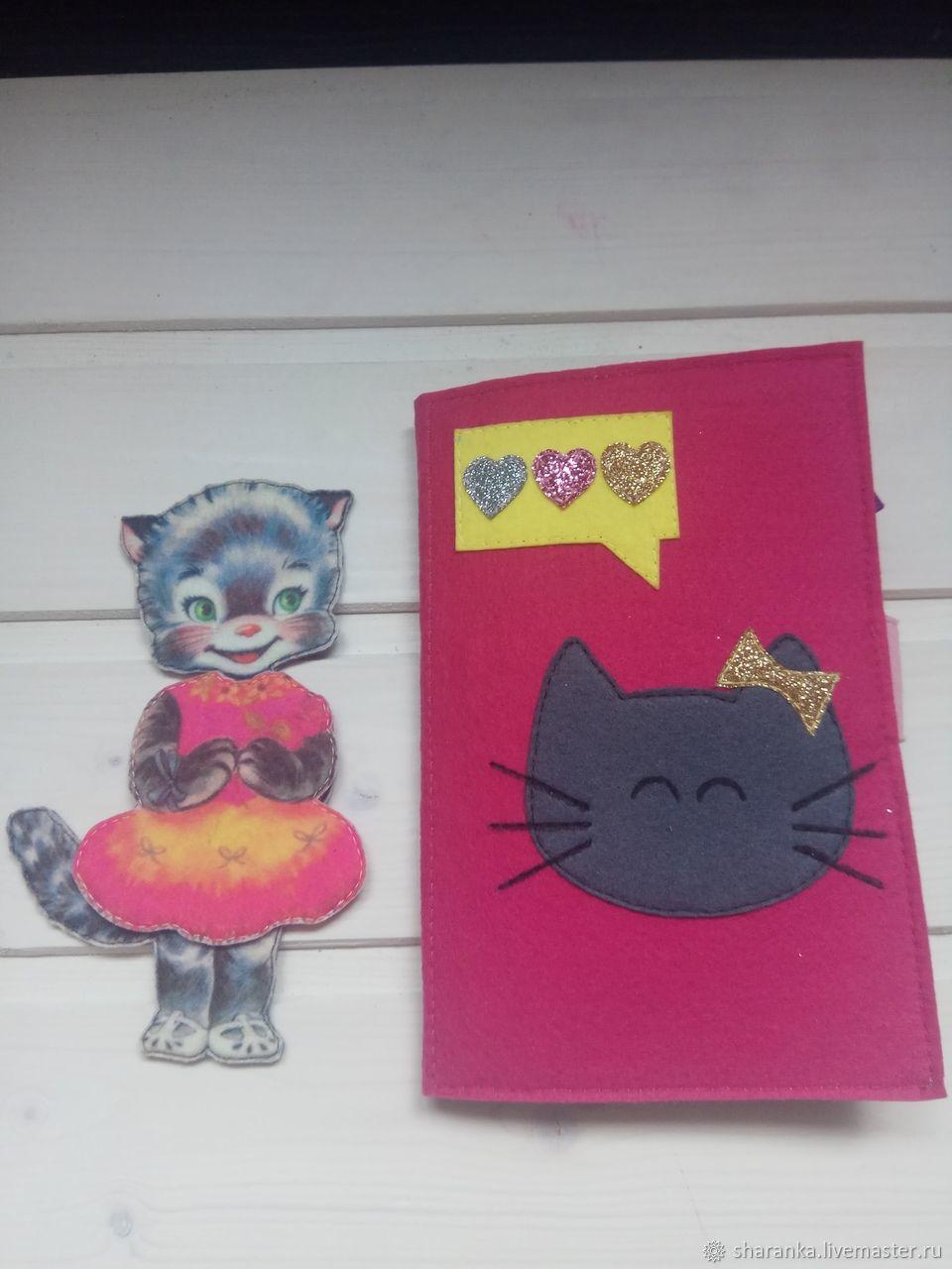 Dress the doll. Kitty. Velcro clothing, Stuffed Toys, Ivanovo,  Фото №1