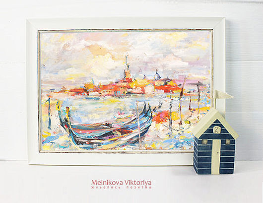 Картина маслом `Венеция ландрин` 30/40 см
