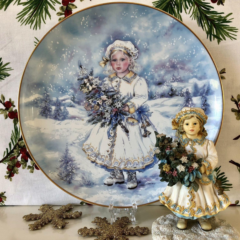 Винтаж: Девочка Снегурочка Тарелка Витринная Декоративная Леонардо, Винтажные сувениры, Лондон, Фото №1