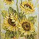 Картины цветов ручной работы. Ярмарка Мастеров - ручная работа. Купить солнечный цветок. Handmade. Картина, картина в подарок