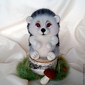 Куклы и игрушки ручной работы. Ярмарка Мастеров - ручная работа Ёжик. Валяная игрушка.. Handmade.