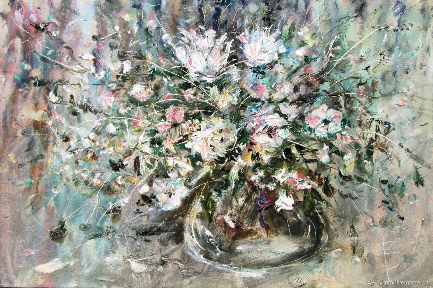 Oil painting . The flying smell of flowers, Pictures, Moscow,  Фото №1