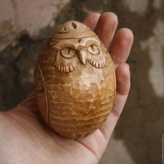 Статуэтки ручной работы. Ярмарка Мастеров - ручная работа. Купить Сова резьба по дереву. Handmade. Коричневый, сова из дерева