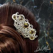 Украшения handmade. Livemaster - original item Hairpin with a golden quartz stone