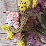 Мягкие игрушки ручной работы. Ярмарка Мастеров - ручная работа Детская подушка № 13:игрушка - подушка обнимушка. Handmade.