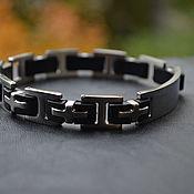 Украшения handmade. Livemaster - original item Steel bracelet with a buckle for engraving. Handmade.
