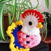 Мягкие игрушки ручной работы. Ярмарка Мастеров - ручная работа Мягкие игрушки: курочка с яичком. Handmade.