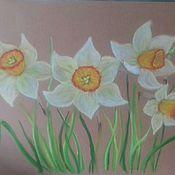 Картины и панно ручной работы. Ярмарка Мастеров - ручная работа Нарциссы. Весна. Handmade.
