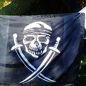 Субкультуры ручной работы. Ярмарка Мастеров - ручная работа флаг пиратский. Handmade.