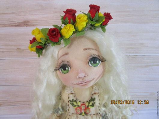 Коллекционные куклы ручной работы. Ярмарка Мастеров - ручная работа. Купить Пелагея. Handmade. Бежевый, стиль бохо, интерьерная кукла