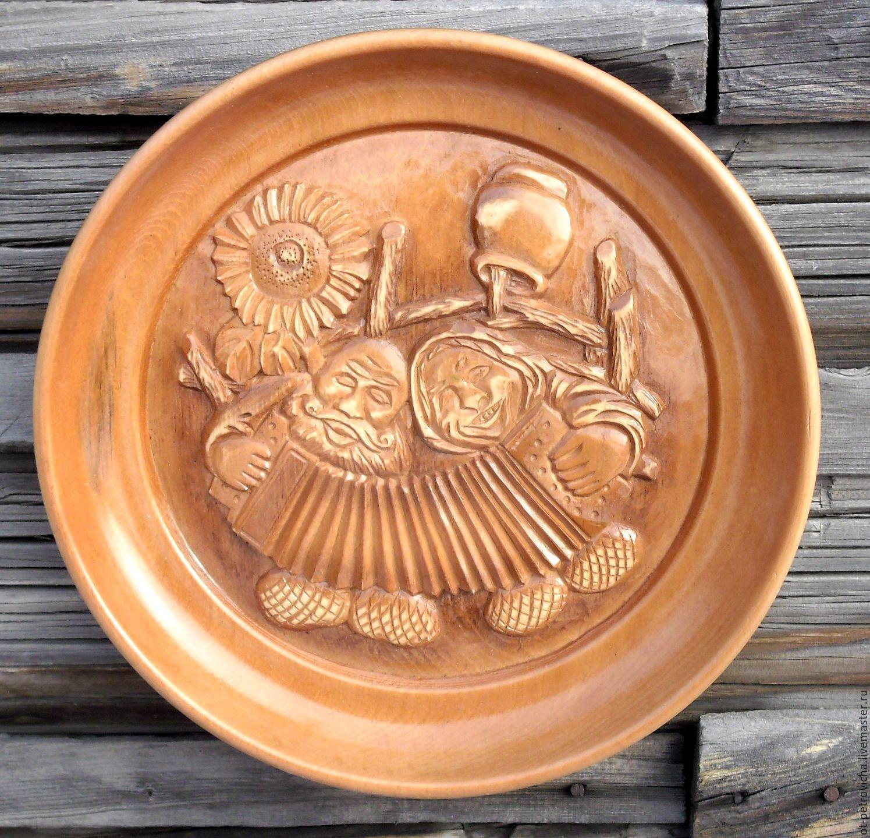 Plate carved - Sweet couple, Plates, Kamen-na-Obi,  Фото №1