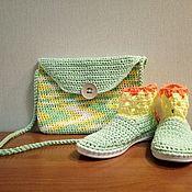 Обувь ручной работы. Ярмарка Мастеров - ручная работа Крочеты Солнышки. Handmade.