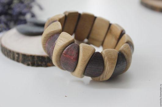 Браслеты ручной работы. Ярмарка Мастеров - ручная работа. Купить Браслет деревянный (BR0035). Handmade. Комбинированный, красивый браслет