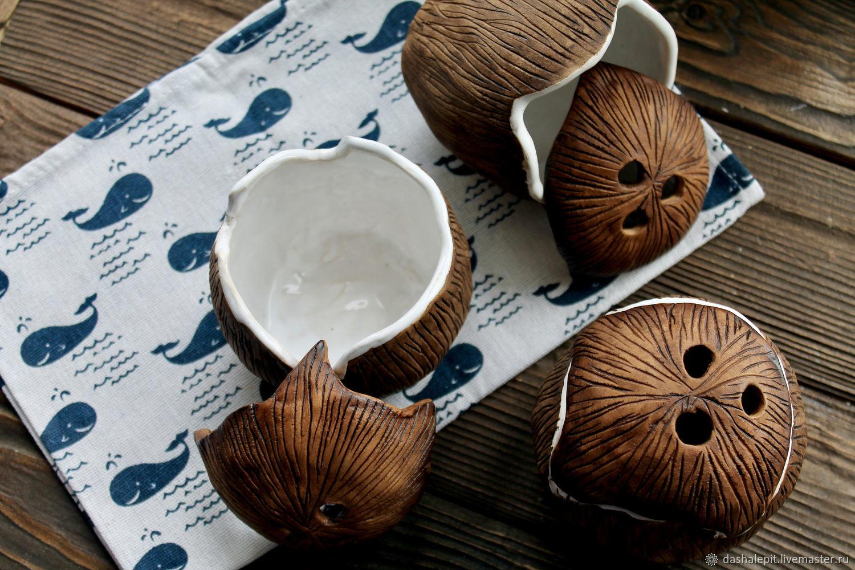 Coconut bowl closed. Coco nut, Jars, Saratov,  Фото №1