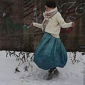 Одежда ручной работы. Ярмарка Мастеров - ручная работа Валяная юбка По волнам. Handmade.