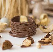Украшения ручной работы. Ярмарка Мастеров - ручная работа Браслет на каждый день замшевый шнур коричневый Летний вечер. Handmade.