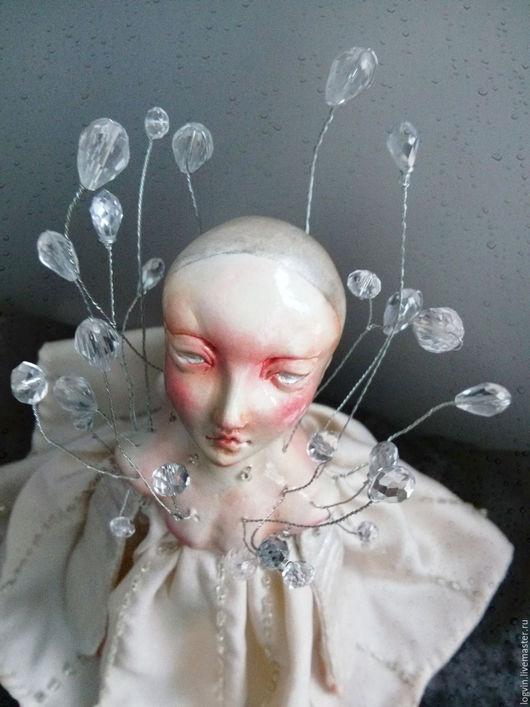 Коллекционные куклы ручной работы. Ярмарка Мастеров - ручная работа. Купить ДОЖДЬ. Handmade. Серый, интересная кукла, бусины хрусталь