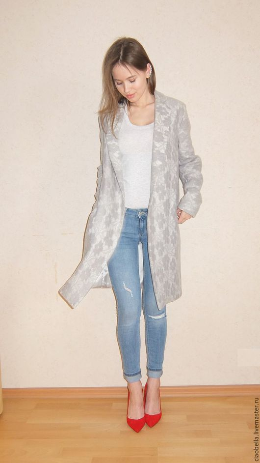"""Верхняя одежда ручной работы. Ярмарка Мастеров - ручная работа. Купить Пальто """"Grey Angel"""". Handmade. Серый, серое пальто"""