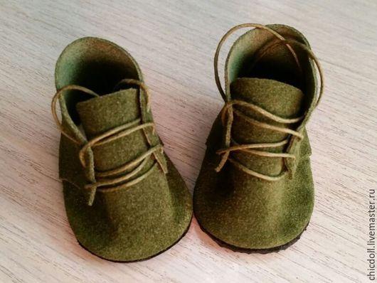 Одежда для кукол ручной работы. Ярмарка Мастеров - ручная работа. Купить Ботиночки для куклы. Handmade. Тёмно-зелёный, ботинки для кукол