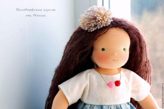 Вальдорфская игрушка ручной работы. Ярмарка Мастеров - ручная работа. Купить Ребекка, вальдорфская кукла (37 см). Handmade. Синий