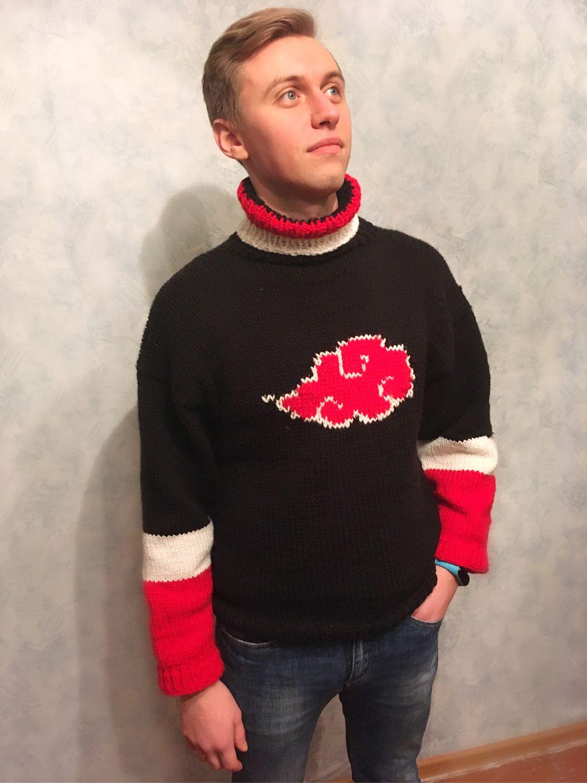 Вязаный мужской свитер, свитер «Акацуки» («Наруто»), Свитеры, Санкт-Петербург,  Фото №1
