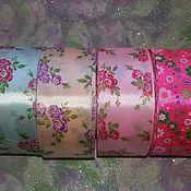 Материалы для творчества ручной работы. Ярмарка Мастеров - ручная работа Атласная лента. Handmade.