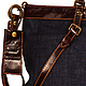Женские сумки ручной работы. Сумка Nature Blue Jeans Dark. AD's  design Sergy. Ярмарка Мастеров. Сумка для девушки
