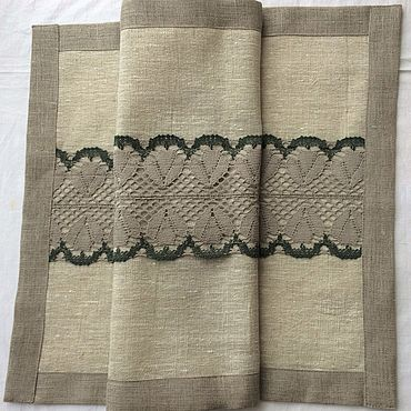 Текстиль ручной работы. Ярмарка Мастеров - ручная работа Дорожка на стол 46х81см №1-1 цвет серый. Handmade.