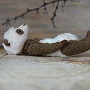 """Куклы и игрушки ручной работы. Ярмарка Мастеров - ручная работа Коричневая панда """"Open my heart"""" (12 см). Handmade."""