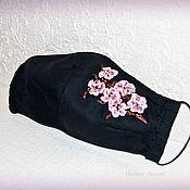 Аксессуары handmade. Livemaster - original item Protective mask with embroidery. Handmade.