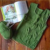 """Одежда ручной работы. Ярмарка Мастеров - ручная работа Жилетка """"Первая зелень"""". Handmade."""