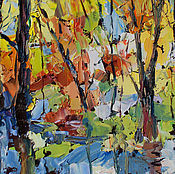 Картины и панно ручной работы. Ярмарка Мастеров - ручная работа Музыка леса. Handmade.