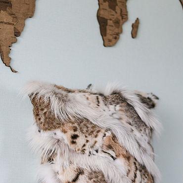 Для дома и интерьера ручной работы. Ярмарка Мастеров - ручная работа Меховой чехол на подушку (мех рыси). Handmade.