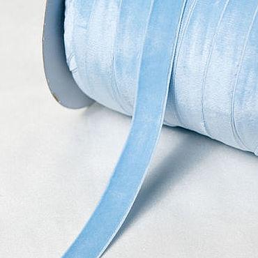 Материалы для творчества ручной работы. Ярмарка Мастеров - ручная работа Ленты: эластичная бархатная лента-резинка 337. Handmade.