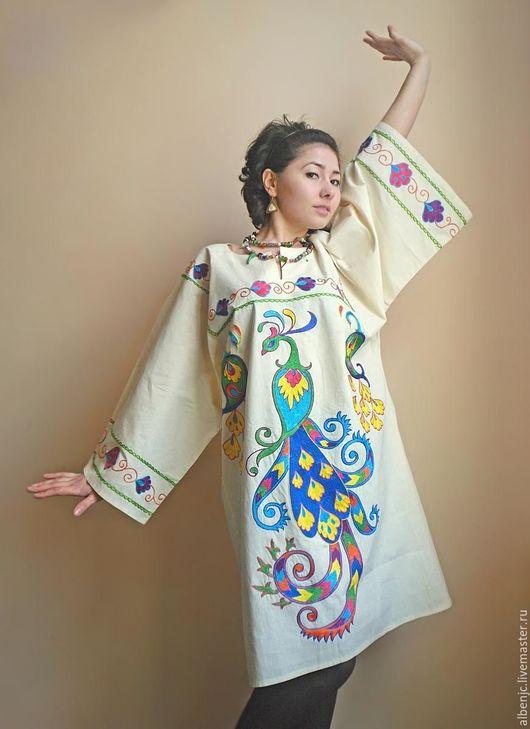 """Платья ручной работы. Ярмарка Мастеров - ручная работа. Купить Платье """"Павлин"""". Handmade. Орнамент, восточный стиль, нарядное платье"""