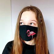 Аксессуары handmade. Livemaster - original item Flamingo mask. Handmade.