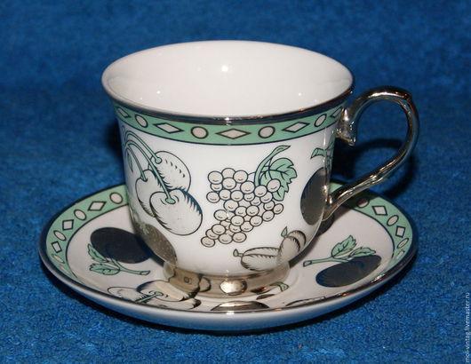 Винтажная посуда. Ярмарка Мастеров - ручная работа. Купить Чайная пара с серебрение германия элитный фарфор. Handmade. Чайная пара
