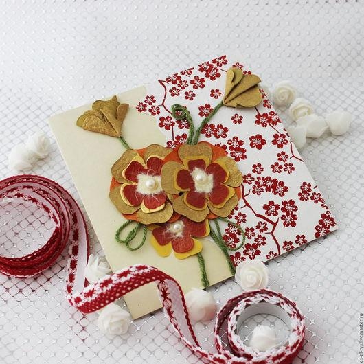 Эксклюзивная открытка, ручной работы `Цветок мандала`